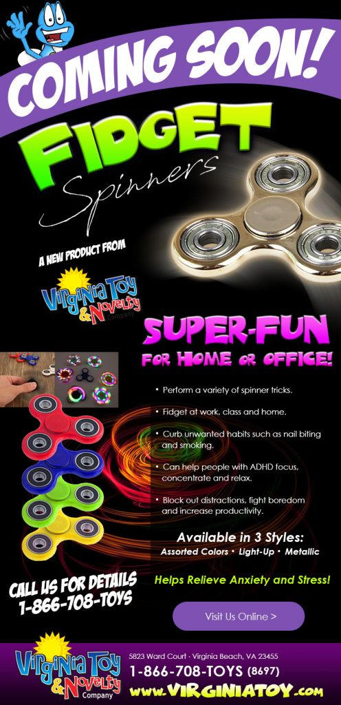 Fidget Spinners Coming Soon